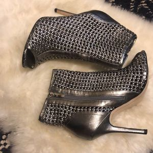Caged silver Sam Edelman booties